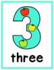 Numbers 1-20 Classroom Posters, Healthy Food-Themed Counting Visuals