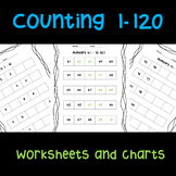 Counting Forward 1 to 120 Worksheets and Chart