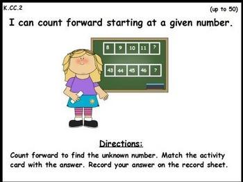 Counting Forward: An Activeboard Center Activity