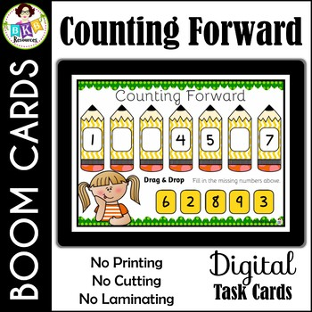 Counting Forward ● Digital Task Cards ● Boom Cards ● Math ● Numbers 1-20