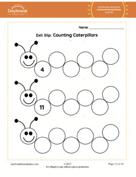 Kindergarten Math | Counting Forward From Given Numbers