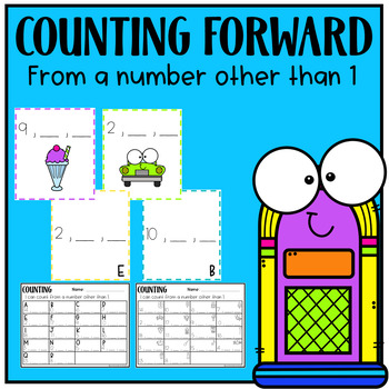 Counting Forward - From a Number Other Than 1 - Math Center