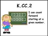 Counting Forward: Math Center Activity (K.CC.2)