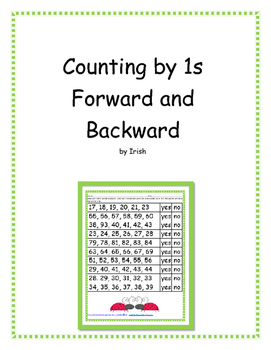 Counting Forward and Backward by 1's - 5 Activities