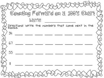 Counting Forward and Backward up to 90 - 1st Grade - Common Core Aligned