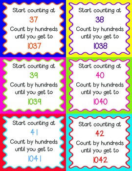 Counting Forward by Hundreds