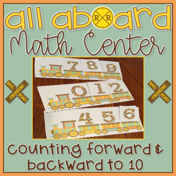 Counting to 10 Forwards & Backwards Math Center Task Card Number Sense Game