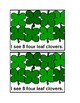 Counting Four Leaf Clover Emergent Reader Book in color for preschool