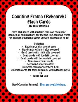 Counting Frame (Rekenrek) Flash Card Set