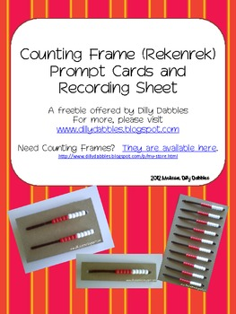 Counting Frame (Rekenrek) Prompt Cards and Recording Sheets