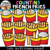 Counting French Fries Clipart {Math Clipart}