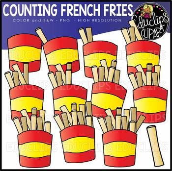 Counting French Fries Clipart Set {Educlips Clipart}