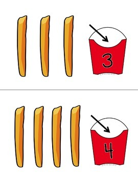Counting French Fries ~ Fast Food Math Work Task for Special Education / Autism