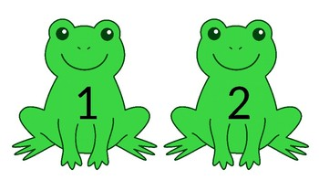 Counting Frogs - Numbers 1 - 10