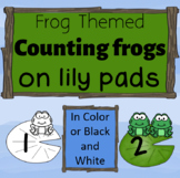 Counting Frogs on Lily Pads Common Core and florida MAFS numbers 0-20