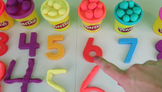 Counting From 1-10 With Play-Doh