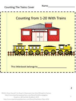 Trains Count to 20 Task Cards Math Center Preschool Special Education Math