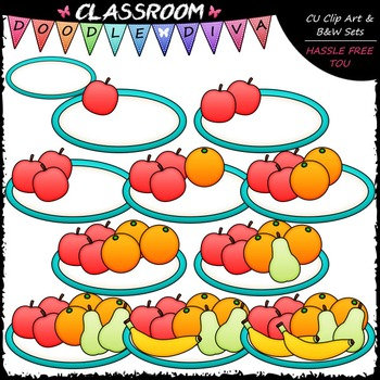 (0-10) Counting Fruit Clip Art - Sequence, Counting & Math