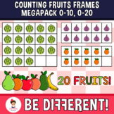 Counting Fruits Frames 0-10, 0-20 (Megapack) Clipart
