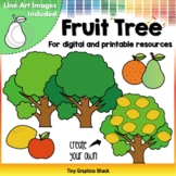 Counting Fruits in a Tree Clip Art