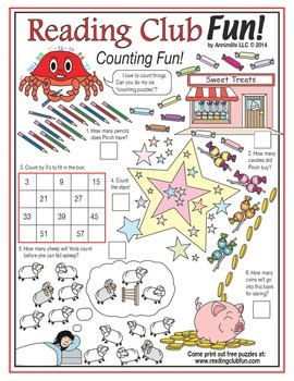 Counting Fun Math Puzzles (Easy & Medium-Hard)