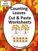 Fall Leaves Math Center Cut and Paste Kindergarten Special