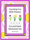 Kindergarten Spring Math Worksheets Flowers Summer Packet Special Education
