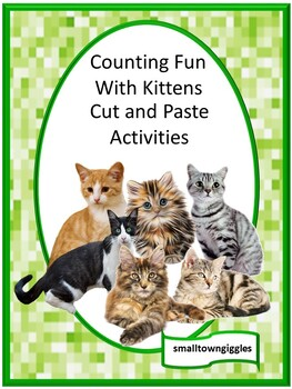 Kittens Counting Activities Preschool Special Education Math Cut and Paste