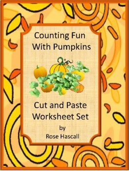 Fall Math Center Count Pumpkins P-K,K,Special Education Fine Motor Cut and Paste