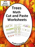 Trees Math Cut Paste Activities Special Education Kindergarten Fine Motor Skills