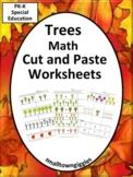Trees Math Cut Paste Activities Special Education Kinderga