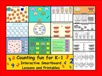 Counting Fun for K-1  Interactive Smartboard Lessons and Printables