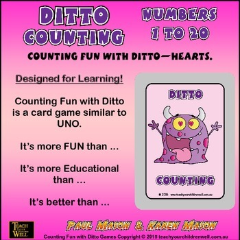 Counting Fun with Ditto - Hearts