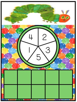Counting Fun with Spinners Hungry Caterpillar FREEBIE