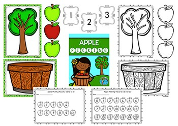 """Fall Math Number Concept Game """"Apple Picking"""""""