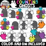 Counting Ghosts Clipart {Halloween Clipart}