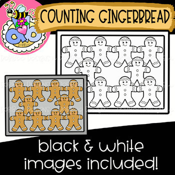 Counting Gingerbread: Christmas Clipart {DobiBee Designs}
