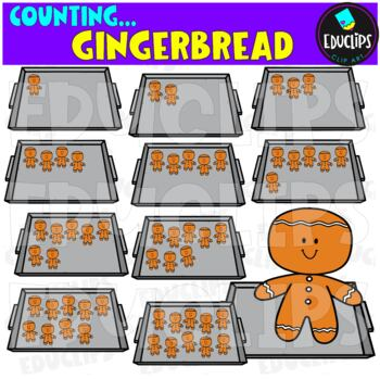 Counting Gingerbread Clip Art Bundle  {Educlips Clipart}