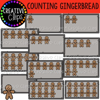 Counting Gingerbread Clipart {Creative Clips Clipart}
