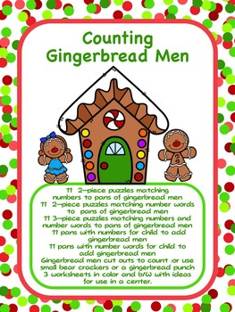 Counting Gingerbread Men - Cookie Counting Fun 0-10
