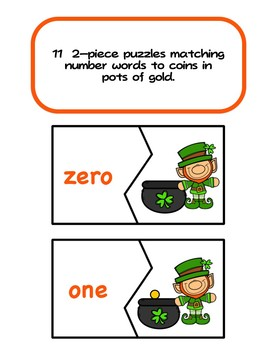 Counting Gold Coins - St. Patrick's Day Numbers to 10 and Number Words