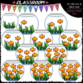 (0-10) Counting Goldfish Clip Art - Counting & Math Clip A