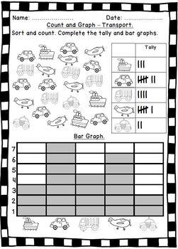 Tally & Bar Chart Worksheets.