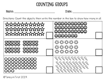 Counting Groups Printable