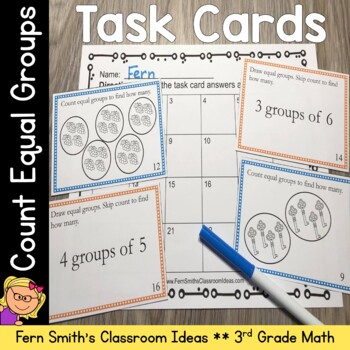 Counting Groups Task Cards - Counting Equal Groups