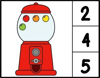Counting Gumballs Clip Cards: Number Recognition and Addition to 20