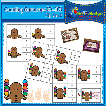 Counting Gumdrops Clip Cards (0-10)