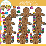 Counting Gumdrops with Gingerbread Clip Art