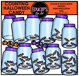 Counting Halloween Candy Clip Art Bundle  {Educlips Clipart}