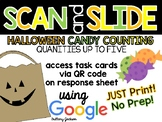 Counting Halloween Candy Scan and Slide QR Code Activity